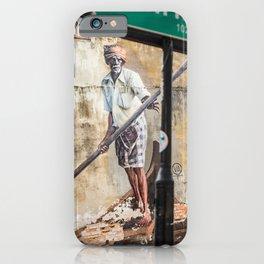 The Boat Man - Lebuh Klang - George Town, Penang Street Art iPhone Case