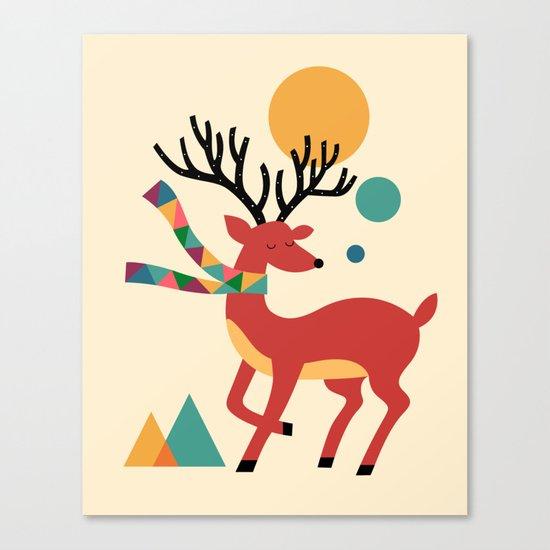Deer Autumn Canvas Print