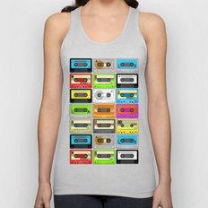 Retro 80s Cassette Tape Pattern Unisex Tank Top
