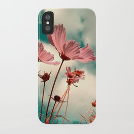 cosmos flowers II iPhone Case