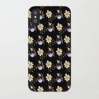 flower pattern iPhone & iPod Cases featuring Flower Pattern by lambaliha