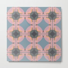 Chichevache - Colorful Decorative Abstract Art Pattern Metal Print