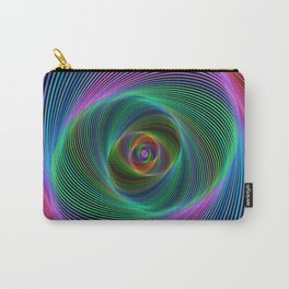 Psychedelic Spiral Stripes Carry-All Pouch