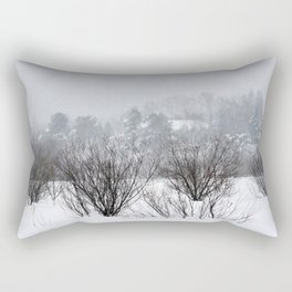 Field trees in winter Rectangular Pillow