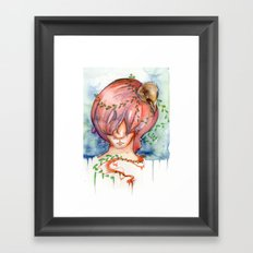 melting slowly Framed Art Print