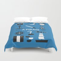 ouat Duvet Covers featuring OUAT - A Pirate by Redel Bautista