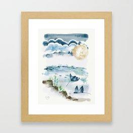 Moon Dancers Framed Art Print