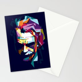 joker in colorful popart style Stationery Cards