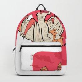 Groom run cartoon Backpack