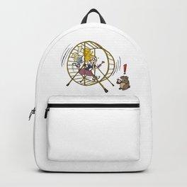 Girl Running in the Hamster Wheel Backpack