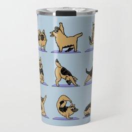 German Shepherd Yoga Travel Mug
