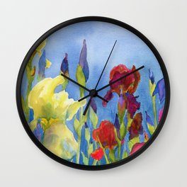 Blue Skies and Happiness Wall Clock