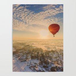 Floating Sunrise Poster