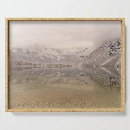 Lake Bohinj Reflection Serving Tray