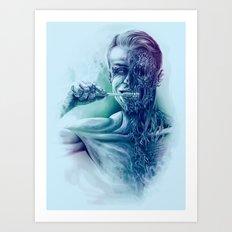 Hygienic Zombie Art Print