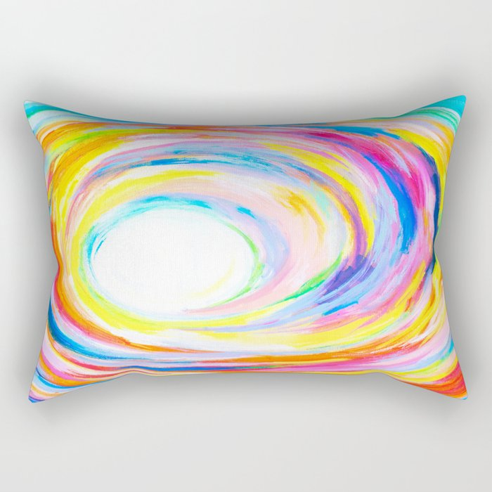Rainbow Journey Rectangular Pillow