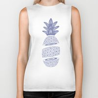 pineapples Biker Tanks featuring Pineapples (Light/Sliced) by Norman Duenas