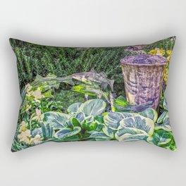 Greens and Yellows Garden Rectangular Pillow