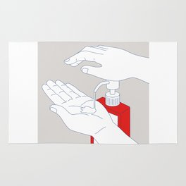 Hand Sanitizer Monoline Rug