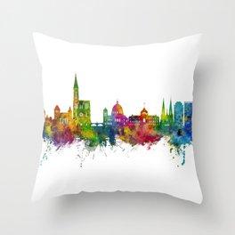Strasbourg France Skyline Throw Pillow