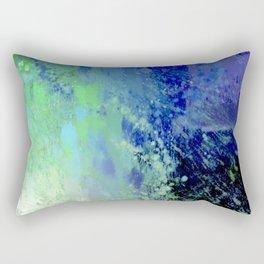 Abstract Blue Painting Rectangular Pillow