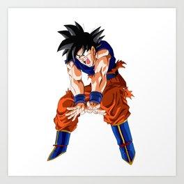 Fan Art Goku Power Art Print