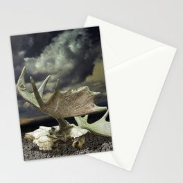 Moose Skull Stationery Cards