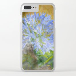 Agapanthus in Blue Clear iPhone Case