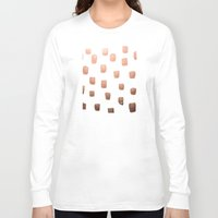 copper Long Sleeve T-shirts featuring Copper Splotch by Lisa Argyropoulos