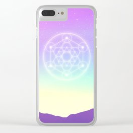 Sacred Geometry (Sacred Merkaba) Clear iPhone Case