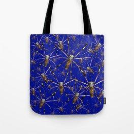 Watercolor Spider Crawl Lapis Tote Bag