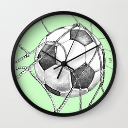 Goal in green Wall Clock