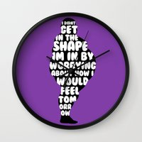 fat Wall Clocks featuring Fat by Zeke Tucker