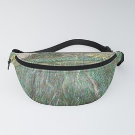 Vincent Van Gogh Wheat Field In Rain Fanny Pack