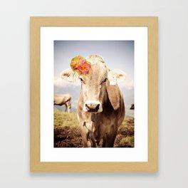 Lady Cow. Framed Art Print