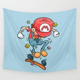 Skate Mario Wall Tapestry