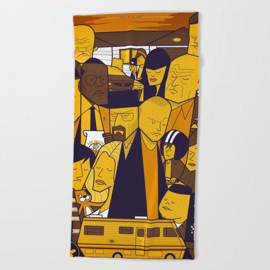 Breaking Bad (yellow version) Beach Towel