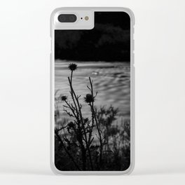 Thistles in the Moonlight Clear iPhone Case