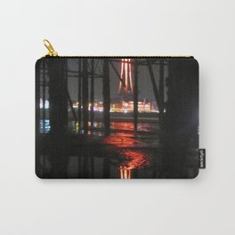 Blackpool Tower Reflection In Water  Carry-All Pouch