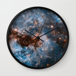 Into The Storm, Galaxy Background, Universe Large Print, Space Wall Art Decor, Deep Space Poster Wall Clock