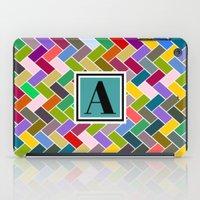 monogram iPad Cases featuring  A Monogram by mailboxdisco