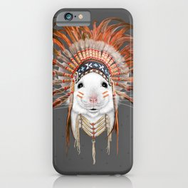 Orange Feather Mouse iPhone Case