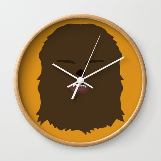 Star Wars Minimalism - Chewbacca Wall Clock