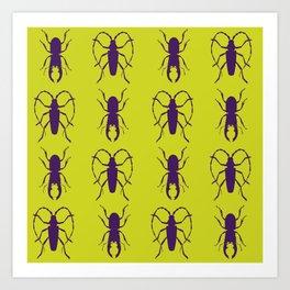 Beetle Grid V5 Art Print