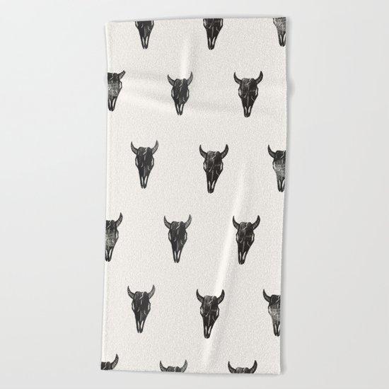 Stamped Skull Beach Towel