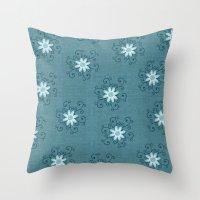 shiva Throw Pillows featuring Shiva by Brains Are Pretty - Caroline Okun
