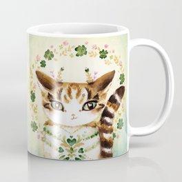 Poe: Heart of my Heart, St. Paddy's Day Cat, lucky charm Coffee Mug