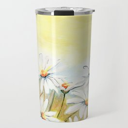 Daisies Watercolor Travel Mug