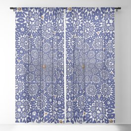 Bleu Gyre Royale Sheer Curtain