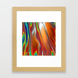 Monochrom Color Splash Abstract Framed Art Print